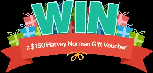 WIN a $150 Harvey Norman gift voucher