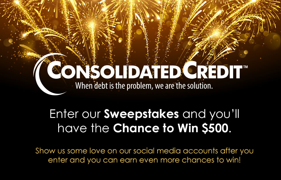 Enter our Sweepstakes and you'll have the chance to win $500. Show us some love on our social media accounts after you enter and you can earn even more chances to win!